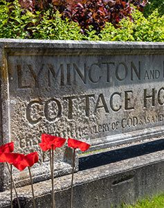The Lymington Hospital memorial stone