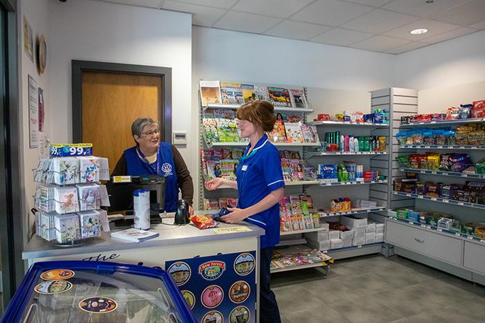 Shop assistant at Lymington Hospital
