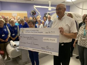 Lymington Hospital Friends hand over £575,000 for new CT Scanner